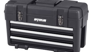 Toolbox Waterloo Pp 2314bk Plastic With 3 Metal Drawers