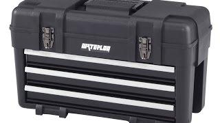 Toolbox Waterloo Pp 2314bk Plastic With 3 Metal Drawers