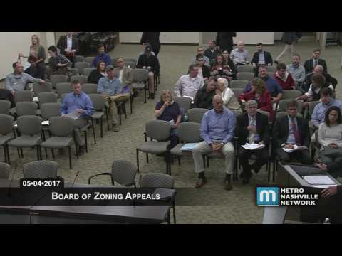 05/04/17 Board of Zoning Appeals