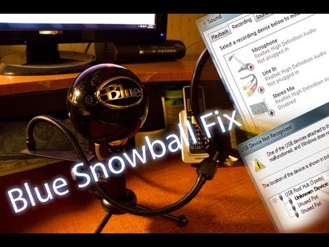 how to fix unrecognized usb blue snowball microphone fix how to save money and do it yourself. Black Bedroom Furniture Sets. Home Design Ideas