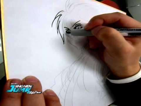 """[Shonen Jump Alpha] -  Hiroshi Shiibashi - Creator Sketch Video """"Nurarihyon No Mago"""""""