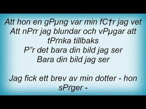 Bo Kaspers Orkester - Bara Din Bild Lyrics