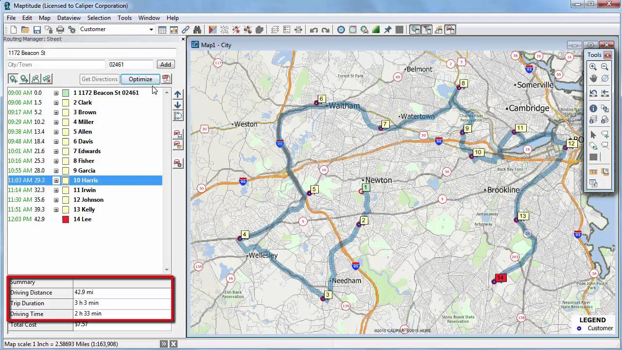 Maptitude 2016 map directions map deliveries map route maptitude 2016 map directions map deliveries map route optimized route sciox Choice Image