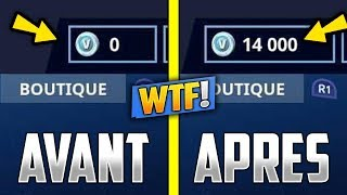 INJECT V-BUCKS in ILLIMITÉ on its FORTNITE COMPTE? (No)