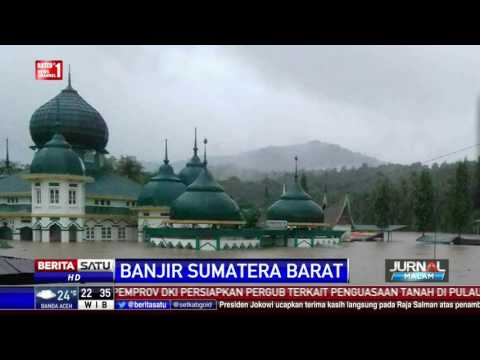Banjir Longsor Landa Lima Puluh Kota, Jalan Riau-Sumbar Putus Total