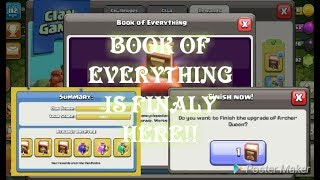 Clash of Clans | Book of Everything is Finaly Here | Getting The BOOK OF EVERYTHING