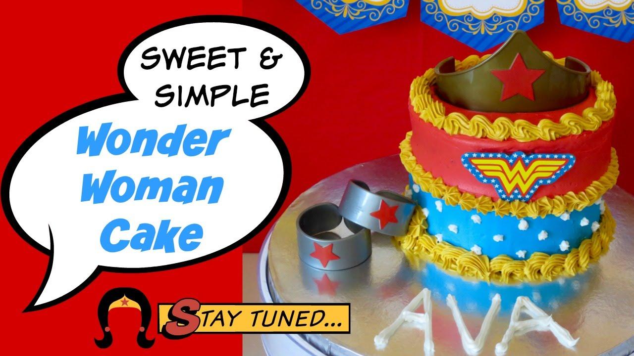 Sweet Simple Wonder Woman Cake Youtube
