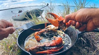 Solo Beach Camping MЏD CRAB MISSION, Living From The Ocean - Part 2