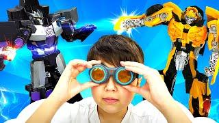 Видео про игрушки и Роботы Трансформеры - Куда пропал Оптимус Прайм? Новая броня для Бамблби