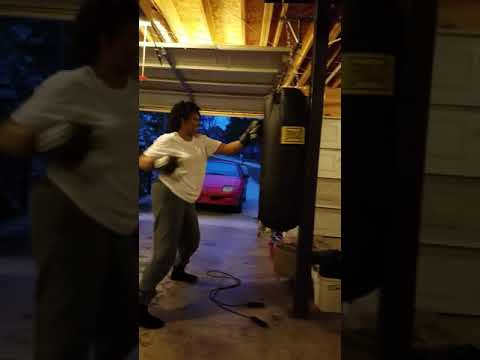 Housewife boxing lessons