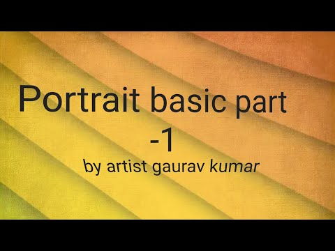 #1 . Learn Portrait Drawing In Easy Steps Part -1, Always Start From Composition 😊