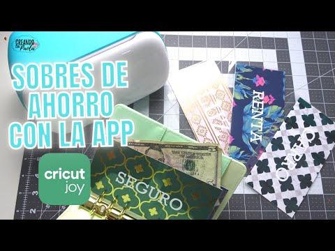 Como hacer sobres de ahorro con la nueva aplicacion CricutJoy