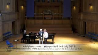 WSCXVI EUGENNE ROUSSEAU MASTER CLASS  Essential historic repertoire II; Creston, Ibert and Heiden