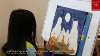 How to draw birds step by step, Mark Twain Art Class For Talented Program