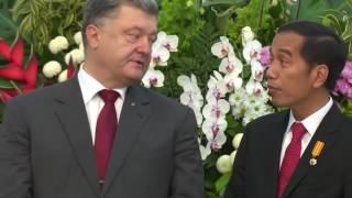 Indonesia Sambut Presiden Ukraina di Istana Merdeka