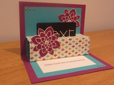 Pop up gift card holder tutorial youtube pop up gift card holder tutorial negle