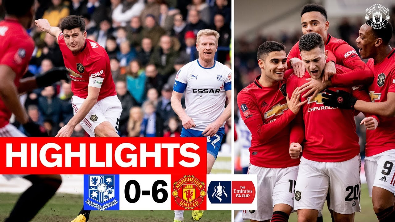 Транмир Роверс  0-6  Манчестер Юнайтед видео