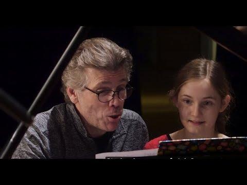 Alma Deutscher and Thomas Hampson - recording The Night before Christmas