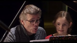 Alma Deutscher and Thomas Hampson - recording The Night before Christmas
