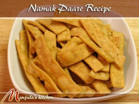 Namak Paare (Para, Indian Pastry) Recipe By Manjula   YouTube