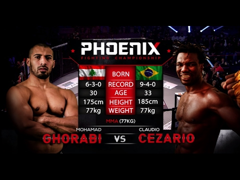 Mohamad Ghorabi vs Claudio Cezario Full Fight (MMA) - Phoenix 1