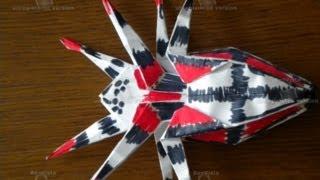 origami super spider как сделать паука из бумаги(, 2013-06-13T14:54:05.000Z)