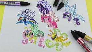 My Little Pony How to Draw Breezie Mane 6 Video for Kids