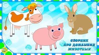Учим животных:  домашние животные на ферме, все серии! Развивающие мультфильмы о животных