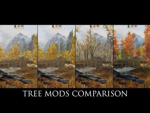 Skyrim SE Mods: Tree Mods Comparison ( Skyrim 3D Trees, SFO, EVT, Forests of Dibella )