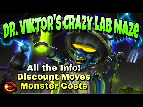 Monster Legends - Dr. Viktor's Crazy Lab Maze - All the Info: Costs and Discount Moves