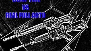 Bump Fire Stock VS Real M-16