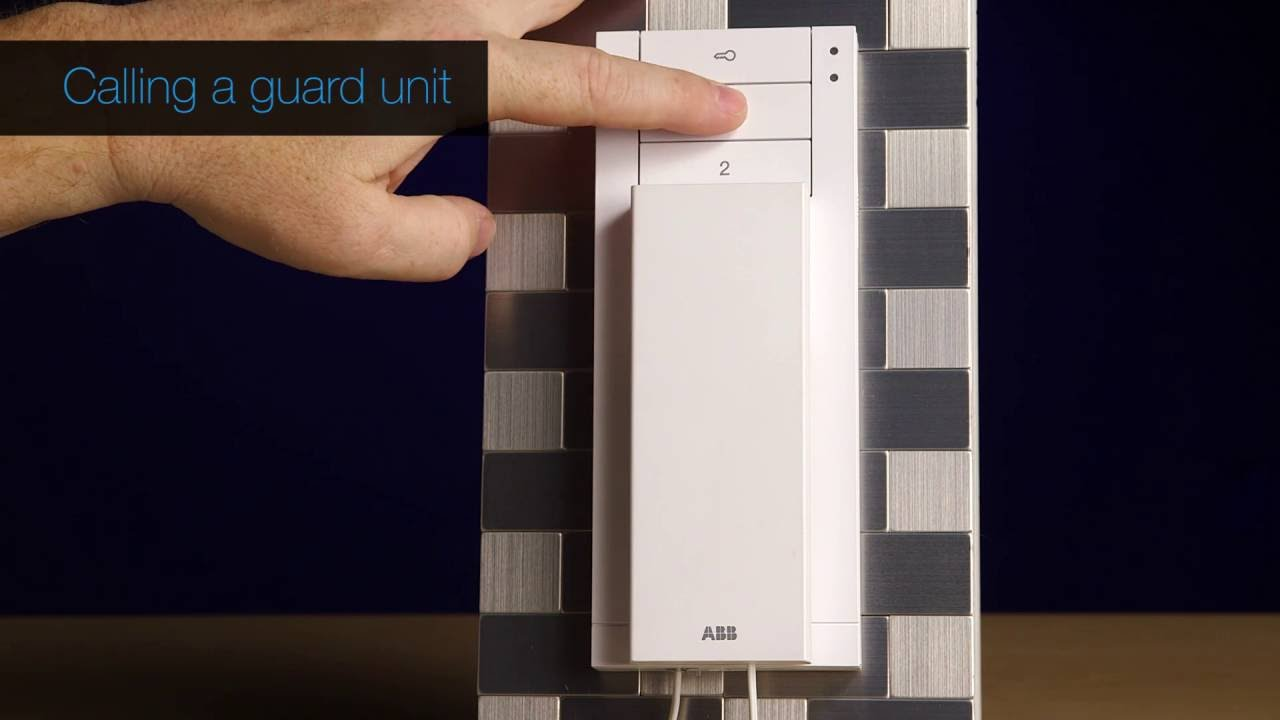 """M2233 7/"""" Video hands-free indoor station Details about  /ABB Welcome M"""