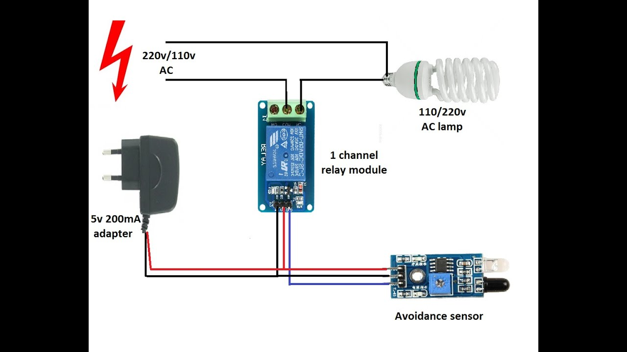 220v Avoidance Switch Using Fc 51 Without Arduino Youtube