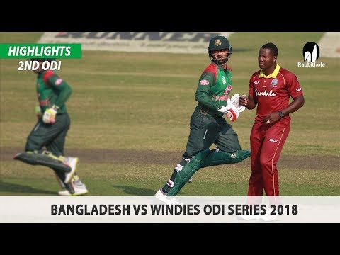 Bangladesh vs Windies Highlights || 2nd ODI || Windies tour of Bangladesh 2018