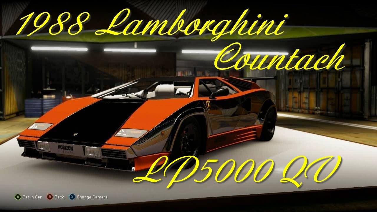 Forza Horizon 2 Gameplay 1988 Lamborghini Countach Lp5000 Qv Xbox One Youtube