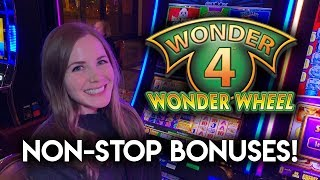 This Slot Machine Would Not Stop Paying! HUGE WIN on Wonder 4!