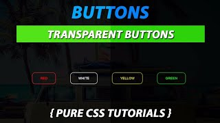 Transparent Button With Border Using CSS Create by VRPawar