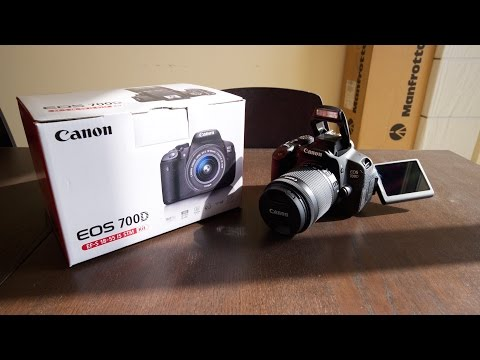 Canon EOS 700D EF-S 18-55mm f/3.5-5.6 IS STM - unboxing & first thoughts