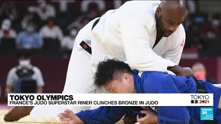 France's superstar Teddy Riner clinches bronze in judo • FRANCE 24 English