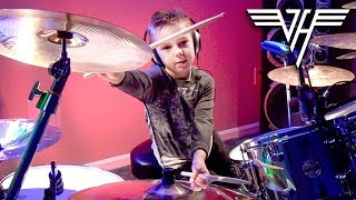 HOT FOR TEACHER (6 year old Drummer) Drum Cover by Avery Drummer Molek thumbnail