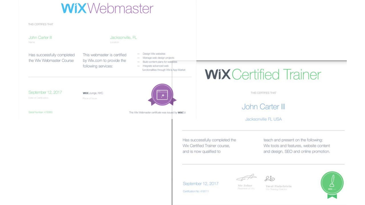 Intro4WixTrainings