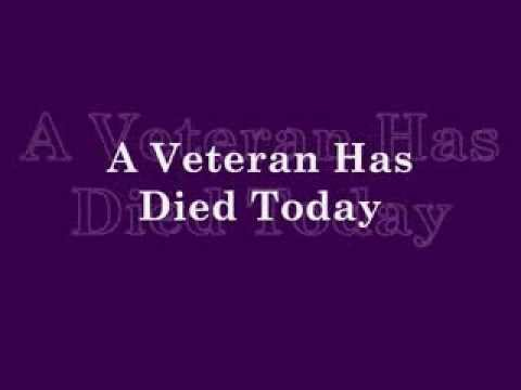Image result for A Veteran Died Today