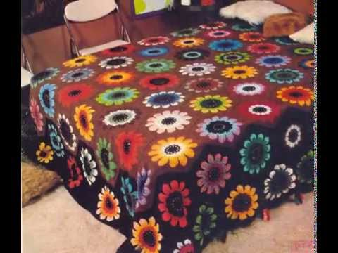 Crochet Bedspread Free Simplicity Patterns31 Youtube