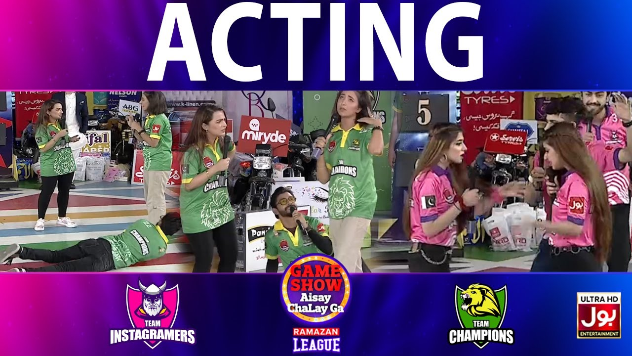 Download Acting   Game Show Aisay Chalay Ga Ramazan League   Instagramers Vs Champions