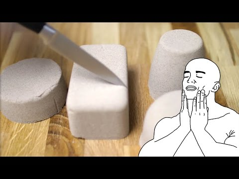 ASMR Kinetic Sand ✦ Crunchy Cutting Satisfaction (no talking