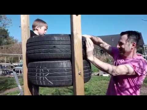 Klettergerüst Reifen : Klettergerüst für kinder selber machen kletterburg aus reifen youtube