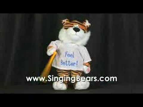 singingbears.com - Dancing Tiger - Get Well