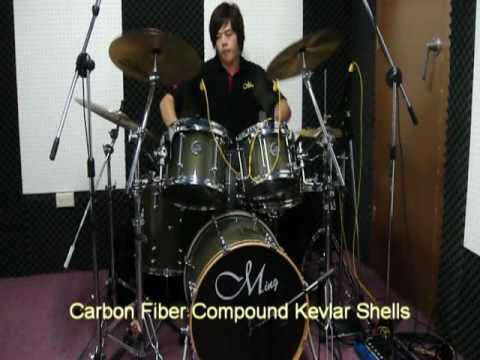 Ming Drum--【Special Foce Series 5 PCS 碳纖維複合材料鼓組】
