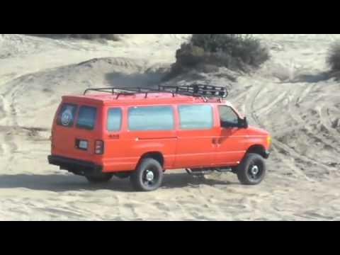 ford van 4x4 e350 diesel off road sick - youtube