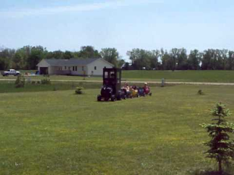 Kids Train From Riding Lawn Mower And Barrels By Http